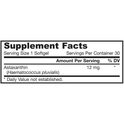 Astaxantina 12 mg 30 cápsulas blandas de Jarrow Formulas Jarrow Formula JRW-20041 Antioxidantes salud.bio