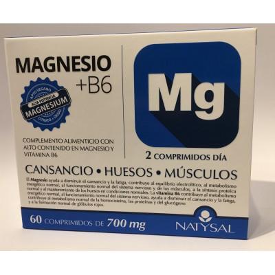 Magnesio + B6 de Natysal 60 Comprimidos Natysal  Suplementos Minerales  salud.bio