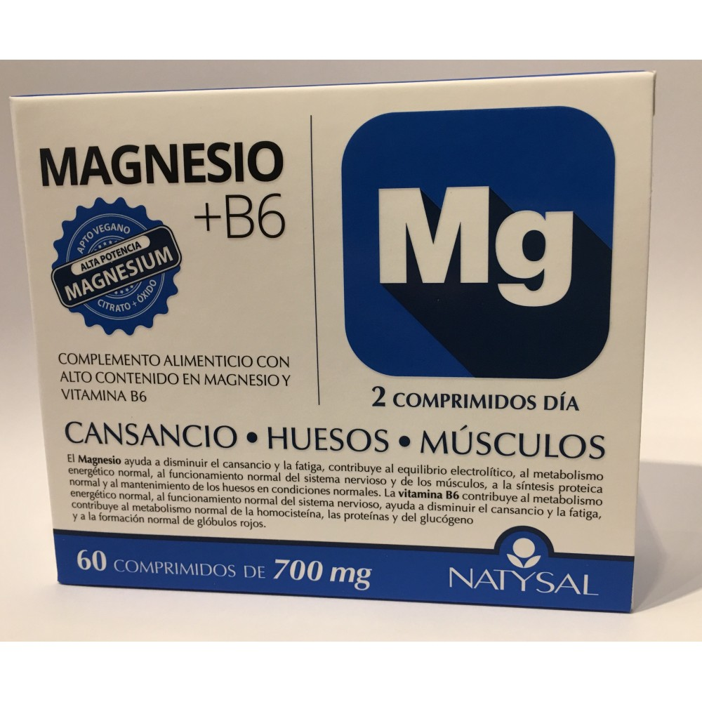 Magnesio + B6 de Natysal 60 Comprimidos Natysal  Inicio salud.bio
