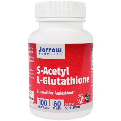 S-acetil L-glutatión (L-Glutathione), 100 mg, 60 comprimidos de Jarrow Formulas Jarrow Formula JRW-15069 Antioxidantes salud.bio