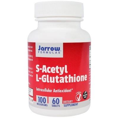 S-acetil L-glutatión (L-Glutathione), 100 mg, 60 comprimidos de Jarrow Formulas Jarrow Formula  Antioxidantes salud.bio