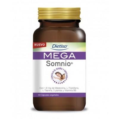 MEGA SOMNIO 60 CÁPSULAS de DIETISA Dietisa 41005 insomnio y descanso salud.bio