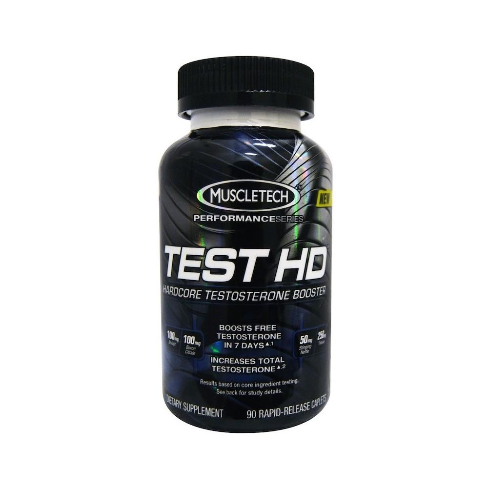 Test HD, Estimulador potente de testosterona, 90 cápsulas de liberación rápida de Muscletech Muscletech MSC-60409 Gainers: Lo...