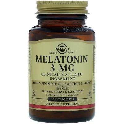 Melatonina, 3 mg, 120 tabletas de Solgar