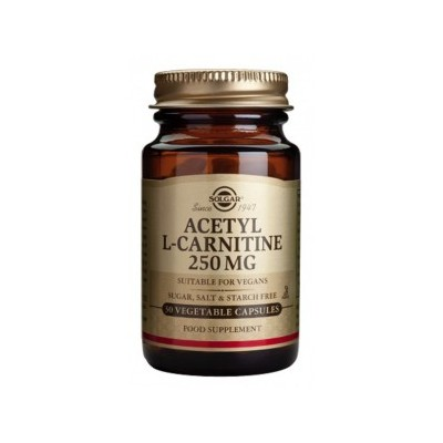 Acetil-L-Carnitina 250 mg · Solgar · 30 cápsulas SOLGAR 010015 Quemagrasas y similares salud.bio