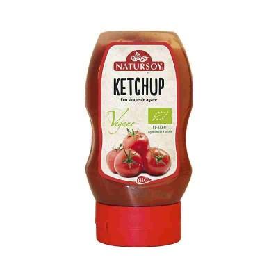 Ketchup con Sirope de Agave 300 Ml de Natursoy Natursoy 0670044018 Alimentación salud.bio
