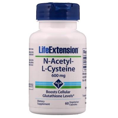 NAC N-Acetil-L-Cisteína, 600 mg , 60 cápsulas vegetarianas de Life Extension LifeExtension LEX-15436 Higado y sistema hepatob...
