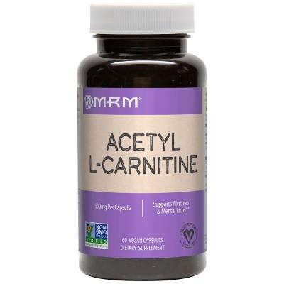 Acetil L-Carnitina, 500 mg, 60 cápsulas vegatales de MRM