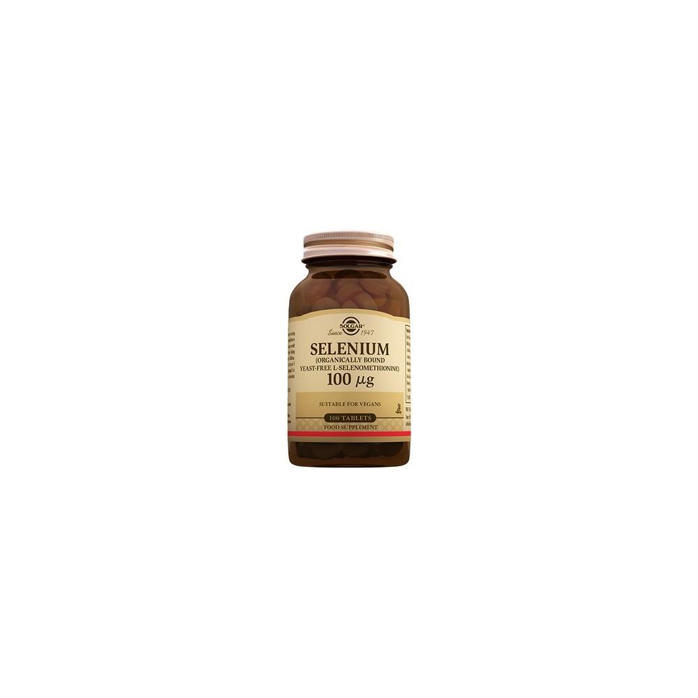 Selenio 100 mcg de Solgar 100 comprimidos SOLGAR 102551 Antioxidantes salud.bio