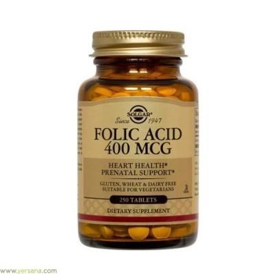 Folacín (Ácido Fólico) 400 μg 250 Comp. de Solgar SOLGAR 051081 Inicio salud.bio