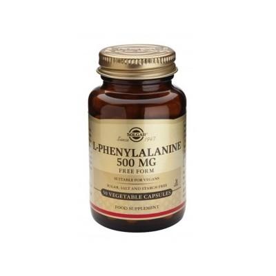 L-Fenilalanina 500 mg de Solgar  50 cápsulas  012200 Tiroides salud.bio