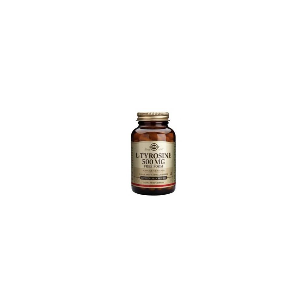 L-Tirosina 500 mg de Solgar 50 cápsulas SOLGAR 012760 Tiroides salud.bio