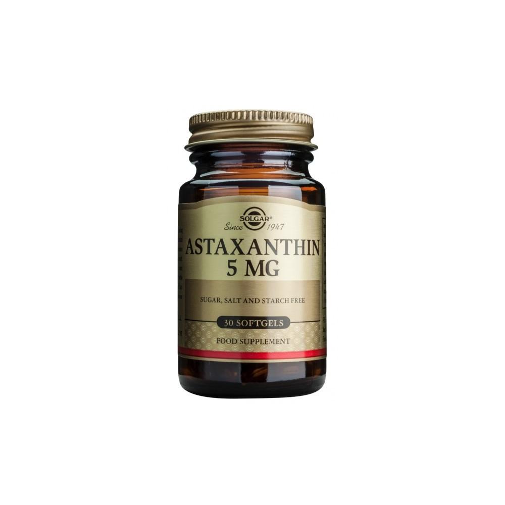 Astaxantina 5 mg de Solgar SOLGAR 040070 Antioxidantes salud.bio