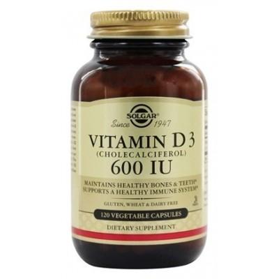 Vitamina D3 600 UI de Solgar SOLGAR 033318 Vitamina A y D salud.bio