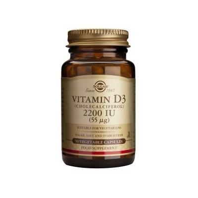 VITAMINA D3 2200 UI (55mcg.) de Solgar SOLGAR  Vitamina A y D salud.bio
