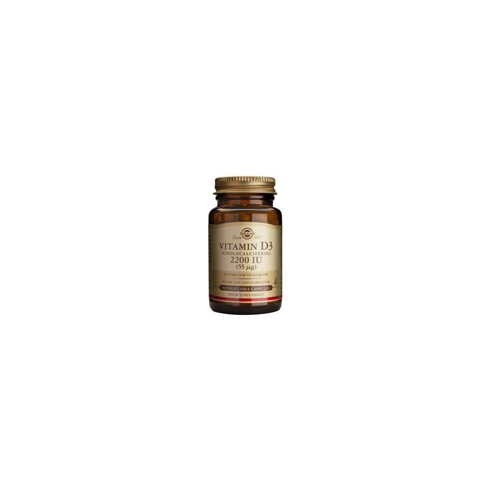 VITAMINA D3 2200 UI DE SOLGAR SOLGAR  Vitamina A y D salud.bio