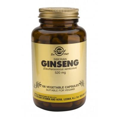 Ginseng Siberiano 520 mg Cápsulas vegetales de Solgar SOLGAR 181280 Cansancio, fatiga, astenia primaveral salud.bio
