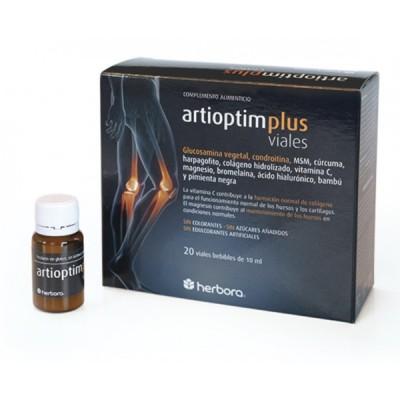 Artioptim Plus 20 viales de Herbora Herbora 501043 Articulaciones, Huesos, Tendones y Musculos, componen el Aparato Locomotor...