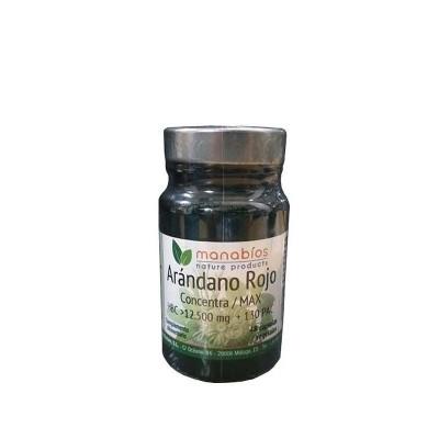 Arándano Rojo Concentración Max 12.500 mg de Manabios Manabios 111201 Bienestar urinario. Ayuda en el bienestar urinario. sal...