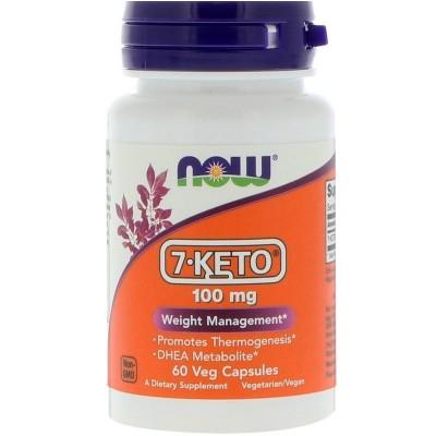 7-KETO, 100 mg, 60 cápsulas vegetales de Now Foods now suplementos NOW-03013 Termogénicos, Energético (Activadores Metabólico...