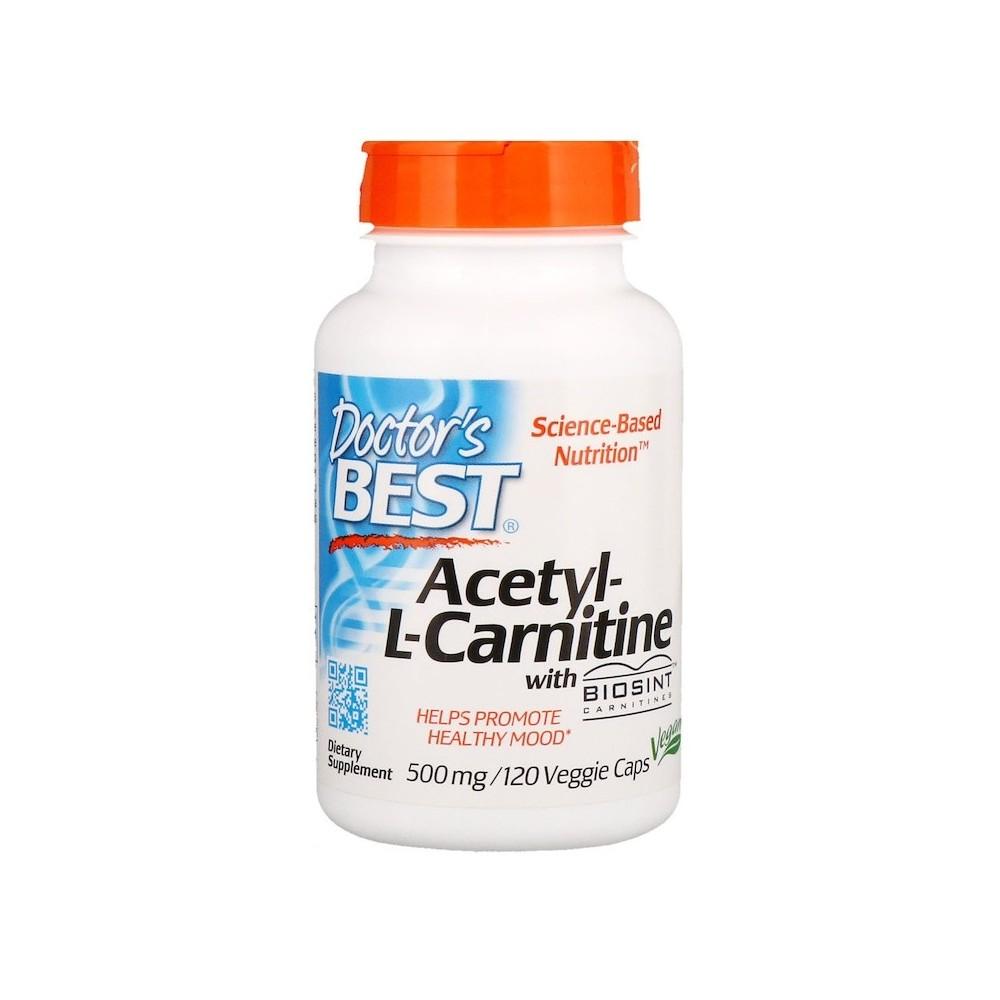 Acetil-L-Carnitina, 500 mg, 120 Cápsulas Vegetales Doctor's Best