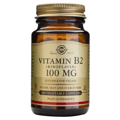 Vitamina B2 100 mg de Solgar