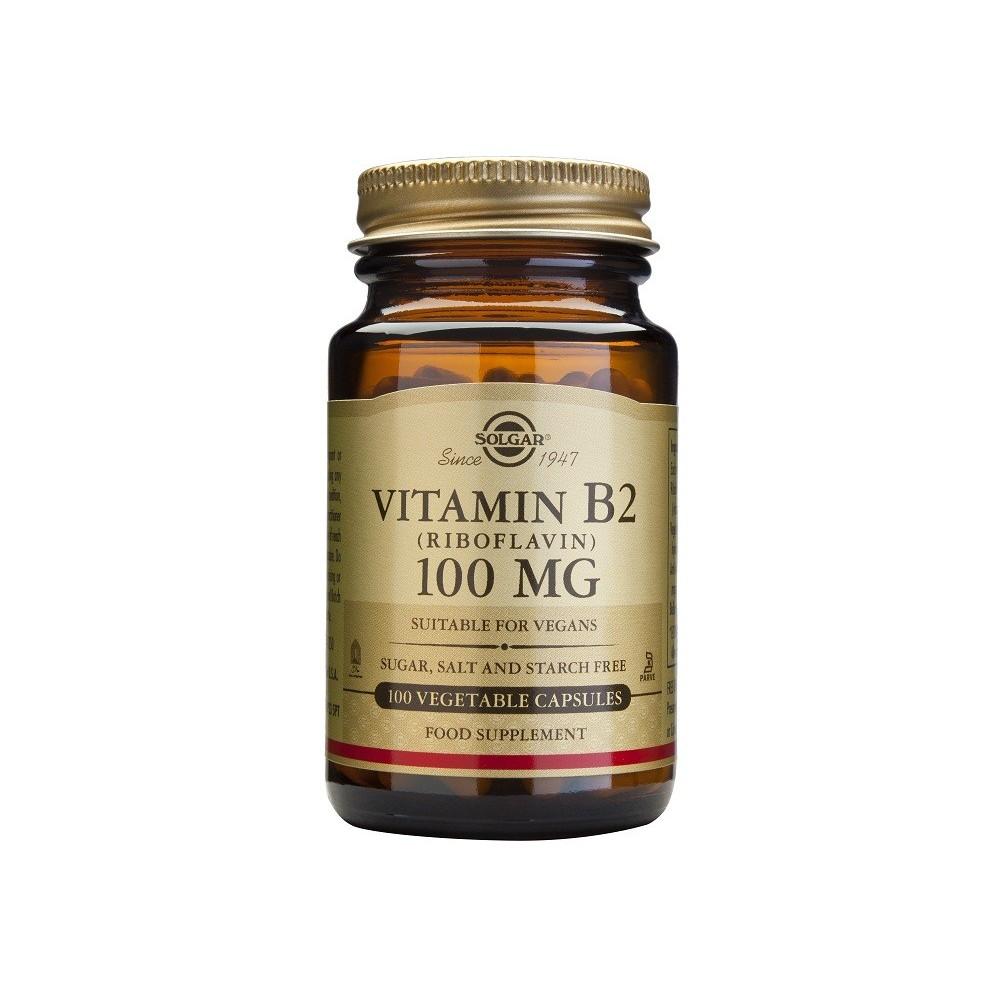 Vitamina B2 100 mg de Solgar SOLGAR 053050 Vitamina B salud.bio
