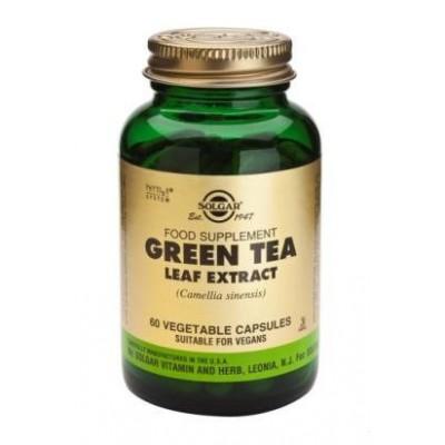 Té verde Extracto de hoja 60 Cápsulas vegetales de Solgar SOLGAR 184124 Antioxidantes salud.bio