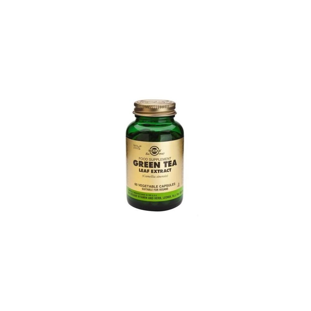 Té verde Extracto de hoja 60 Cápsulas vegetales de Solgar