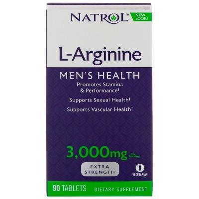 L-Arginina, plus 3.000 mg, (por servicio), 90 comprimidos de Natrol,