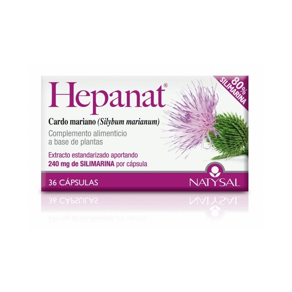 Hepanat 36 capsulas de Natysal Natysal 13394 Higado y sistema hepatobiliar salud.bio