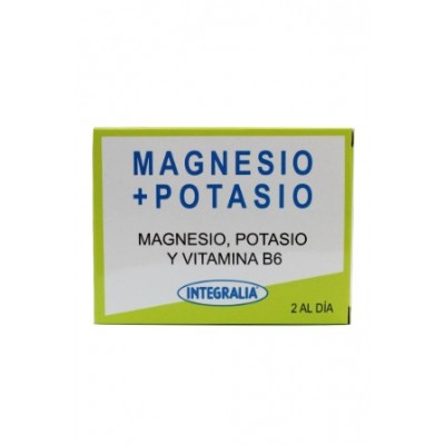Magnesio + Potasio 60 capsulas Integralia INTEGRALIA 481 Articulaciones, Huesos, Tendones y Musculos, componen el Aparato Loc...
