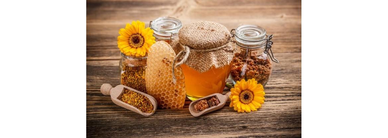 miel, polen, jalea real, propolis