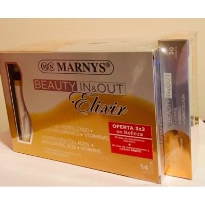 Pack 2x Beauty Elixir 14 viales + Beauty 30 Marnys PACKMNV Piel, Cabello y Uñas, Complementos y Vitaminas salud.bio