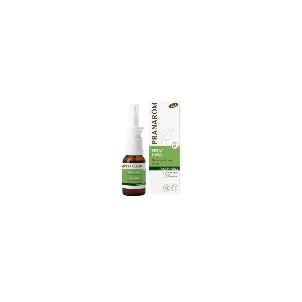 Pranaforce spray nasal BIO Pranarom  Acción benéfica garganta y pecho salud.bio