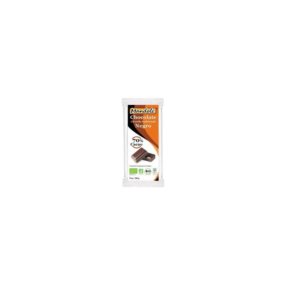 Chocolate Negro BIO (70% cacao) en tableta 100 grs Mandolé 3505052530 Alimentación salud.bio