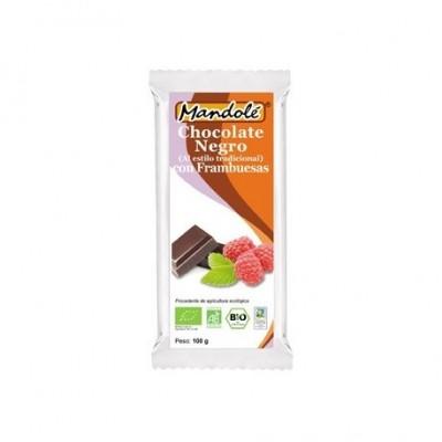 Chocolate negro BIO con Frambuesas (65% cacao) en tableta 100 grs Mandolé 3505052660 Alimentación salud.bio