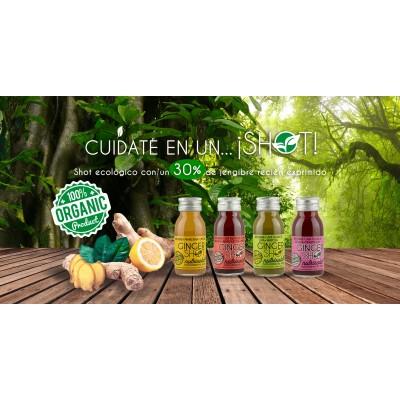 Ginger Shot diario Jengibre, Remolacha, Granada, Uva, Lima y Menta de Nutrisola Nutrisola 843409100144 ECO (ecologico), BIO (...