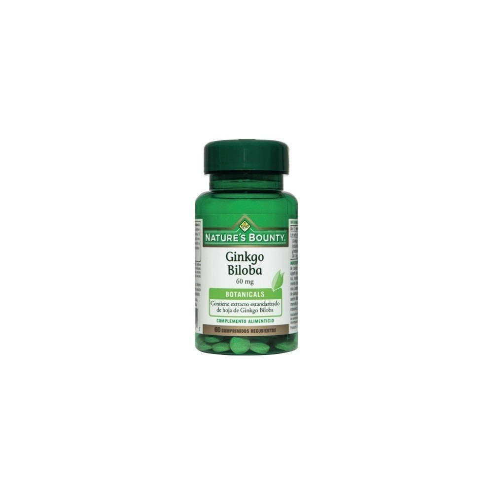 Ginkgo 60mg Nature´s Bounty NATURE´S BOUNTY 03649 Sistema circulatorio salud.bio