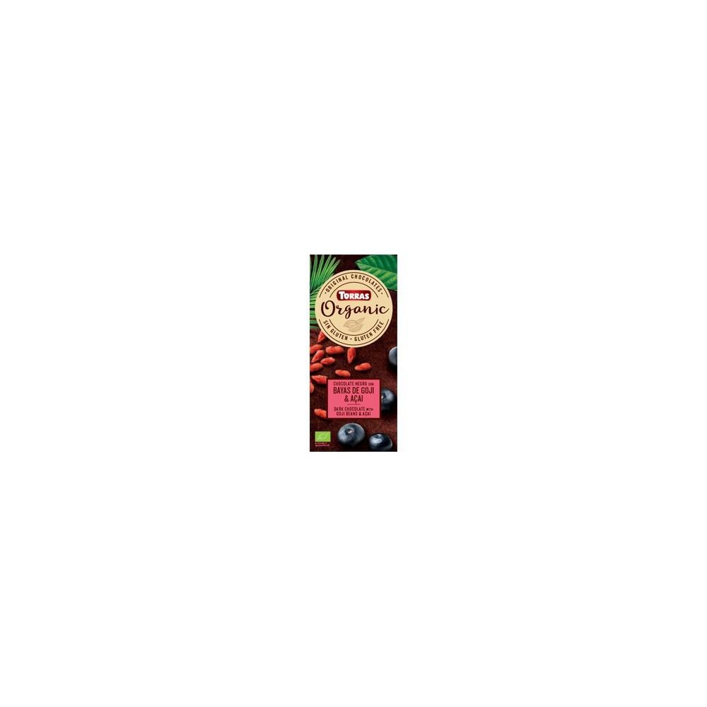 Chocolate negro Eco con bayas de Goji y açaí en polvo - Torras Chocolates Torras TO 37766 ECO (ecologico), BIO (biologico), O...