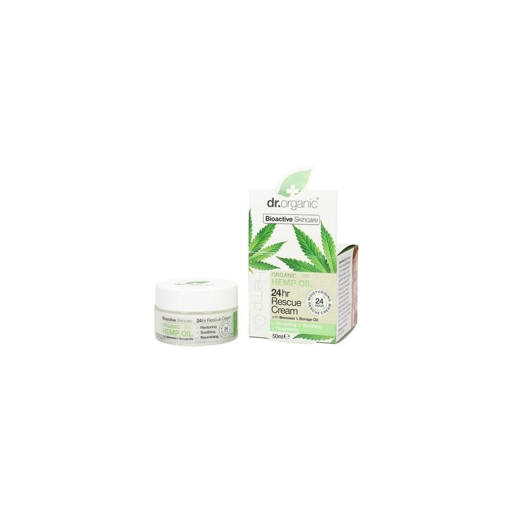 Crema Rescate 24H (Organic Hemp Rescue Cream) Dr. Organic Doctor Organic DR00480A Cosmética Natural salud.bio