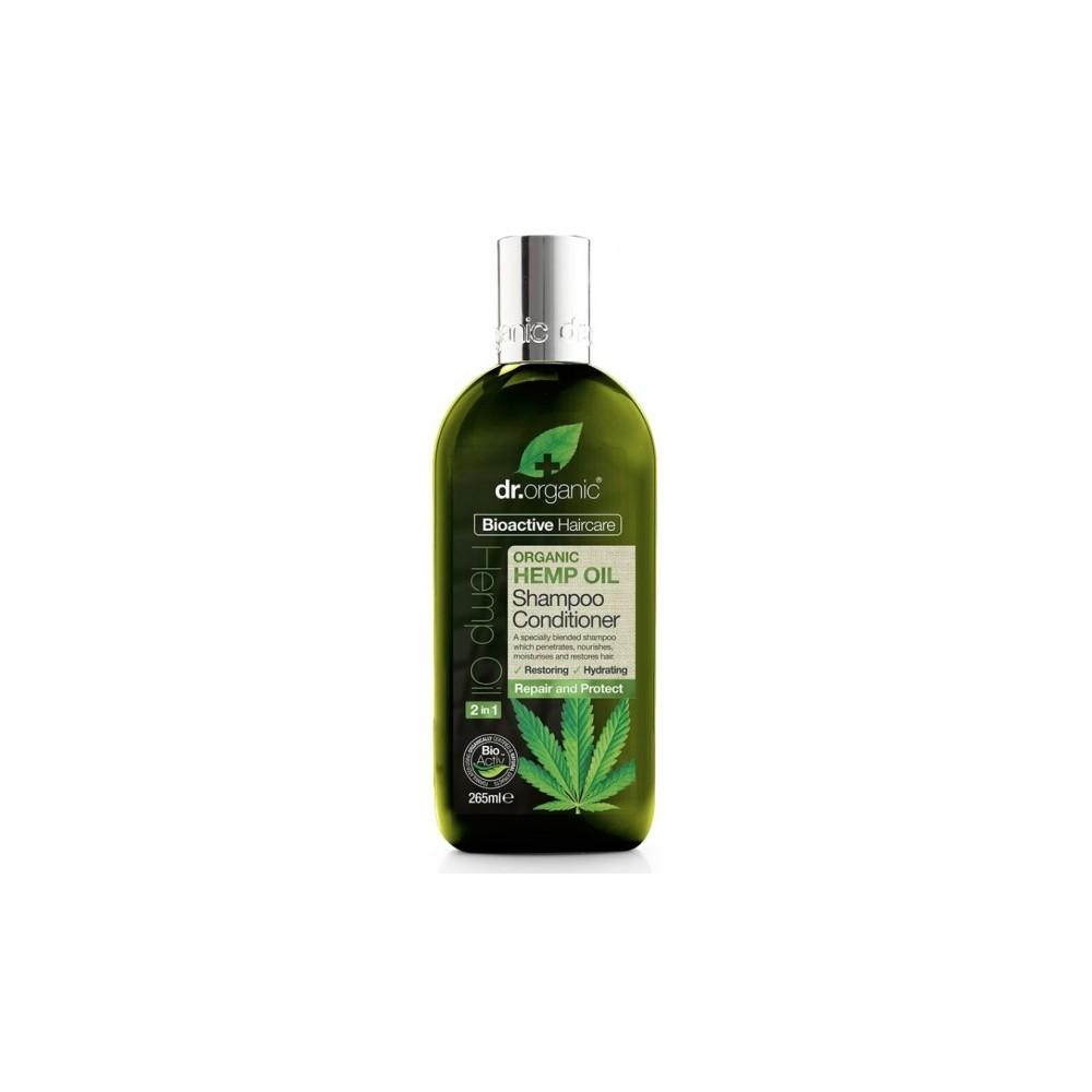 Champu y Acondicionador Aceite de Cañamo Dr Organic Doctor Organic 00493 Cosmética Natural salud.bio