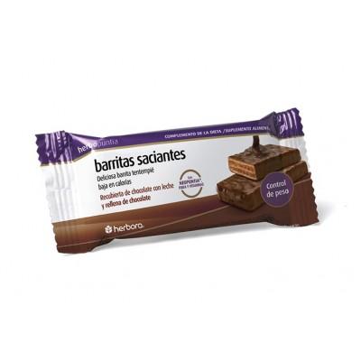 Barrita chocolate Herbopuntia saciantes Herbora 500705 Barritas Snack salud.bio