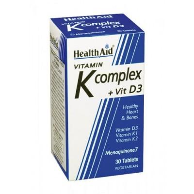 Vitamin K complex + Vitaminas K1, K2, D3, de HealthAid Health Aid 801217 Articulaciones, Huesos, Tendones y Musculos, compone...