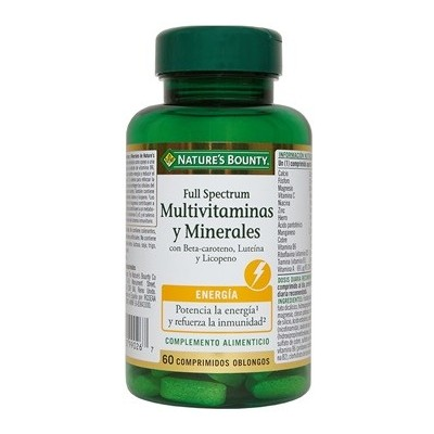Full Spectrum Multivitaminas y Minerales de Nature's Bounty NATURE´S BOUNTY 30459 Vitaminas y Multinutrientes salud.bio