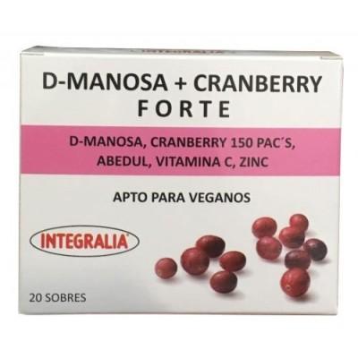 D-Manosa + Cranberry Forte de Integralia INTEGRALIA 528 Sistema respiratório salud.bio
