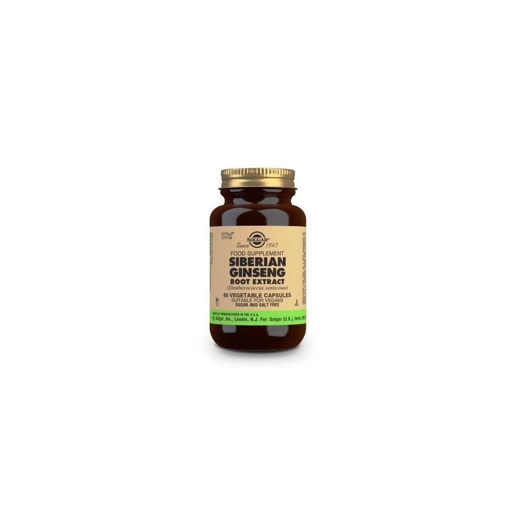 Ginseng Siberiano Extracto de Raíz (Eleutherococcus senticosus) Cápsulas vegetales SOLGAR 184146 Cansancio, fatiga, astenia p...