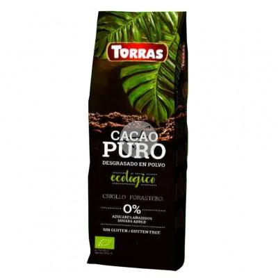 Cacao Puro Desgrasado en Polvo Ecológico Torras Chocolates Torras TO 40203 Chocolates salud.bio