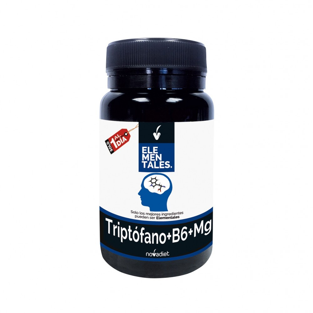 Triptófano+B6+Mg - Elementales de Novadiet Novadiet 53504 Estados emocionales, ansiedad, estrés, depresión, relax salud.bio