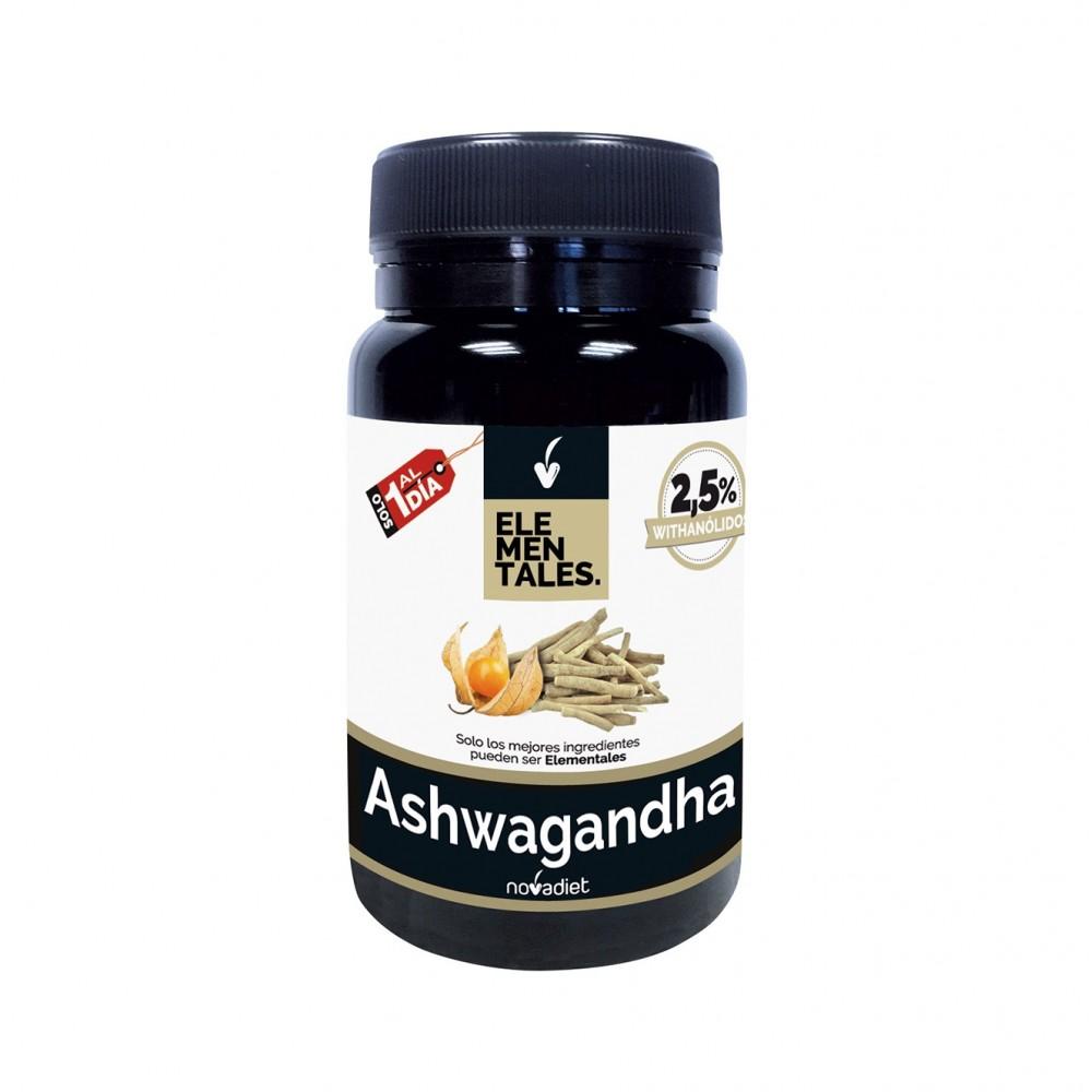 Ashwagandha - Elementales de Novadiet Novadiet 53507 Estados emocionales, ansiedad, estrés, depresión, relax salud.bio